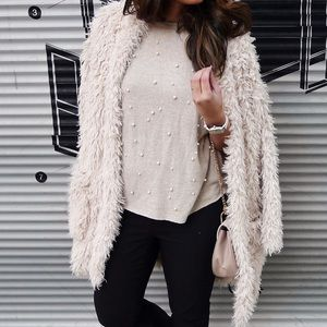 Jackets & Blazers - Ivory Teddy Bear Faux Fur Jacket
